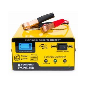 Mikroprocesszoros autó akkumulátor töltő 6/12V | PM-PM-40B