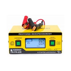 Autós akkumulátortöltő - mikroprocesszor 6/24V | PM-PM-60B